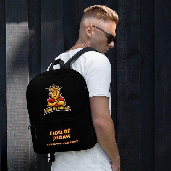 LOJ Black School Backpack Bag With Slogan
