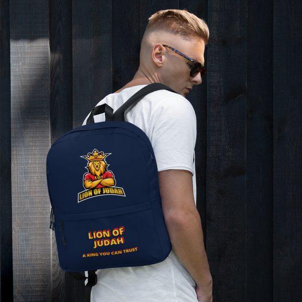 LOJ Blue School Backpack Bag With Slogan