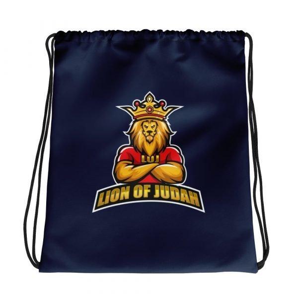 LOJ Blue Drawstring Backpack Bag