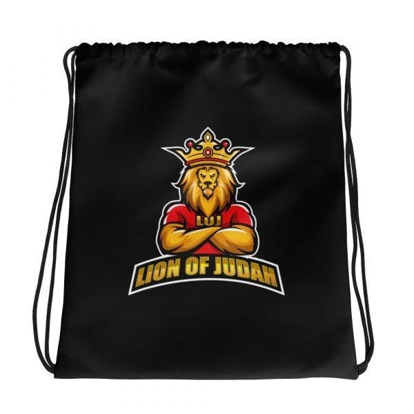 LOJ Black Drawstring Backpack Bag