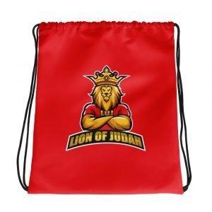 LOJ Red Drawstring Backpack Bag