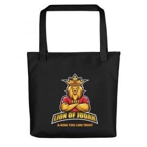 LOJ Black Tote Handbag With Slogan