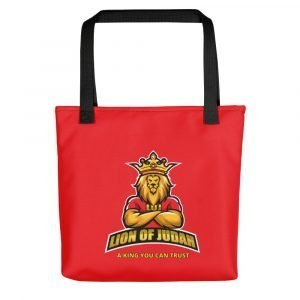 LOJ Red Tote Handbag With Slogan
