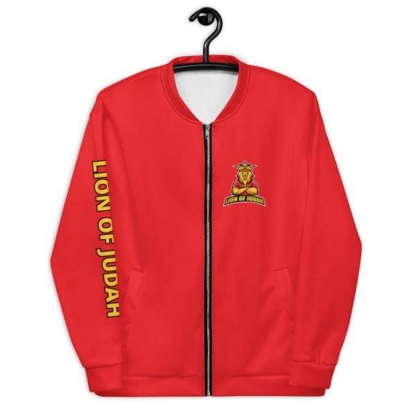 LOJ Red Christian Bomber Jacket With Slogan