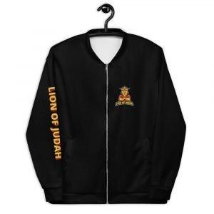 LOJ Black Christian Bomber Jacket With Logo & Slogan