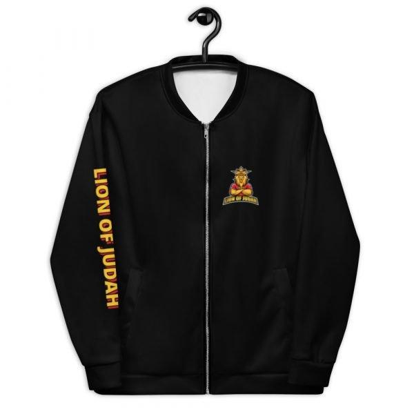 LOJ Black Christian Bomber Jacket With Logo