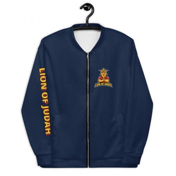 LOJ Blue Christian Bomber Jacket With Slogan